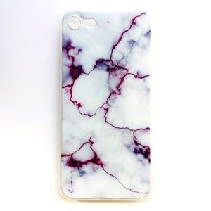 Accessories - NEW iPhone 7/7+/8/8+ Case Purple Marble Electric